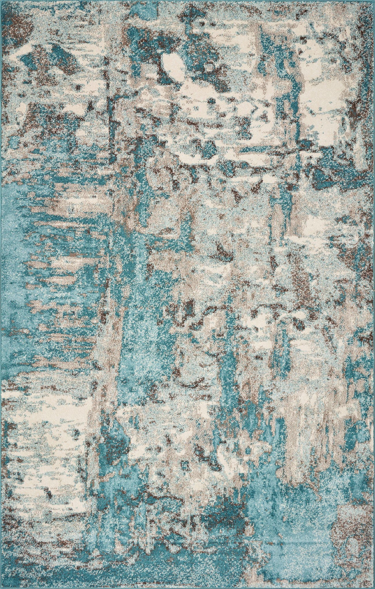 KAS Watercolors 6233 Ivory/Teal Area Rug main image