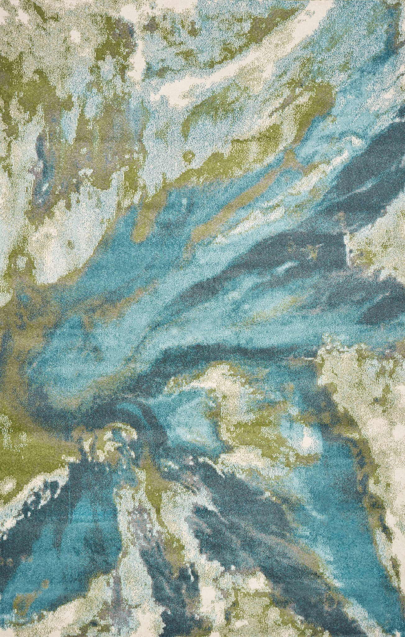 KAS Watercolors 6234 Teal Abstract Area Rug main image
