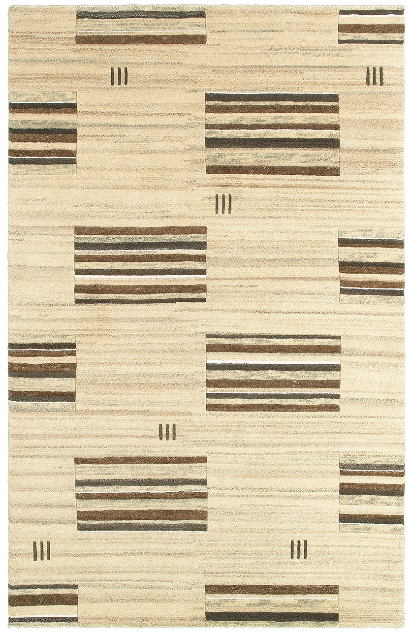 LR Resources Kasteli 03827 Natural Beige Area Rug