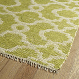 Kaleen Kenwood KEN07-96 Lime Green Flat Weave Area Rug