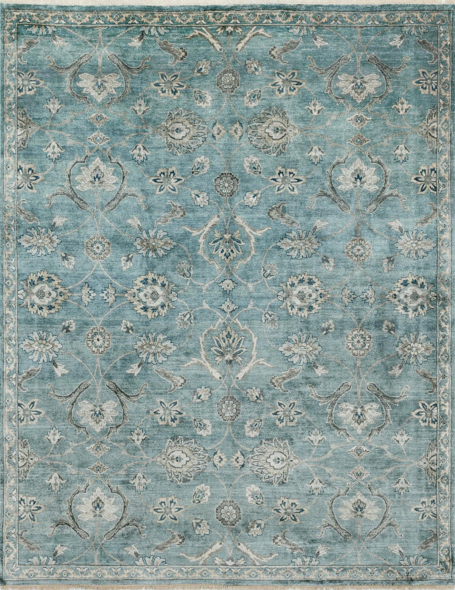 Loloi Kensington KG-01 Blue/Fog Area Rug by Henrietta Spencer-Churchill main image