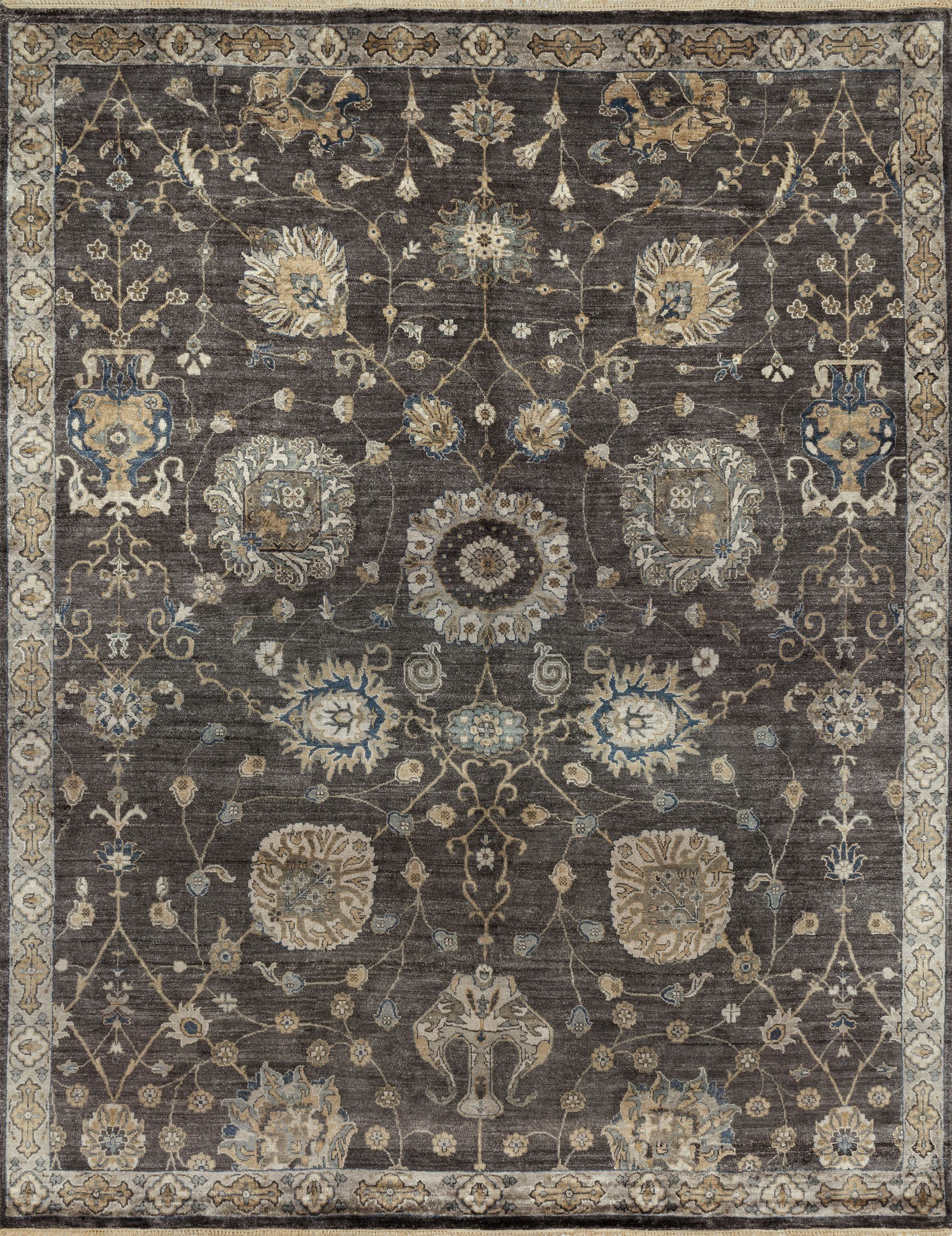 Loloi Kensington Kg 05 Frost Gray Area Rug By Henrietta Spencer Churchill Incredible Rugs And