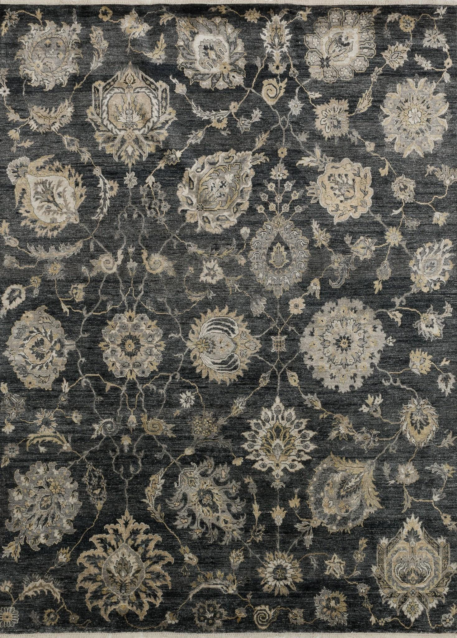 Loloi Kensington KG-07 Charcoal Area Rug by Henrietta Spencer-Churchill main image