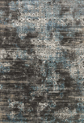 Loloi Kingston KT-02 Charcoal / Blue Area Rug main image
