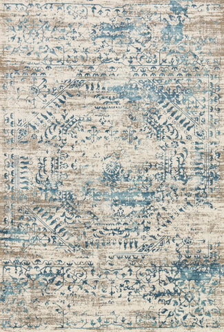 Loloi Kingston KT-05 Ivory / Blue Area Rug main image
