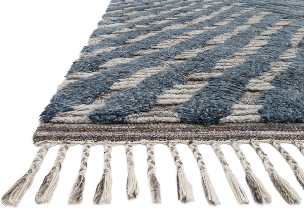Loloi Khalid Kf 06 Blue Pewter Area Rug Incredible Rugs And Decor