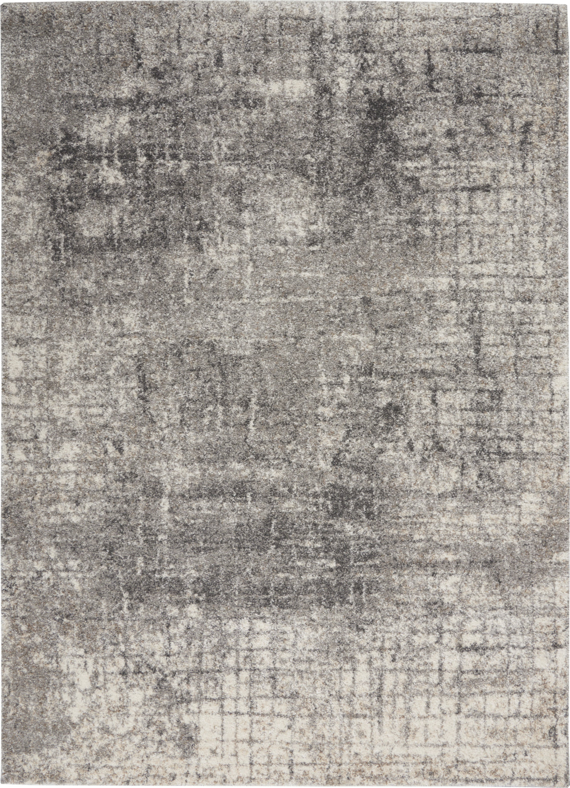 Nourison KI60 Ivory Shore KI63 Cream/Silver Area Rug by Kathy Ireland main image