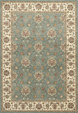 KAS Kingston 6406 Blue/Ivory Mahal Machine Woven Area Rug