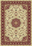 KAS Kingston 6412 Ivory/Red Tabriz Machine Woven Area Rug