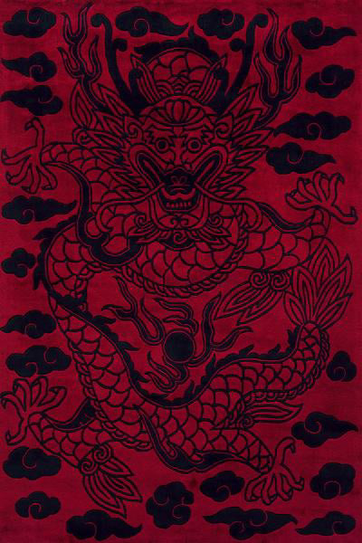 Momeni Koi KO-11 Red Area Rug main image