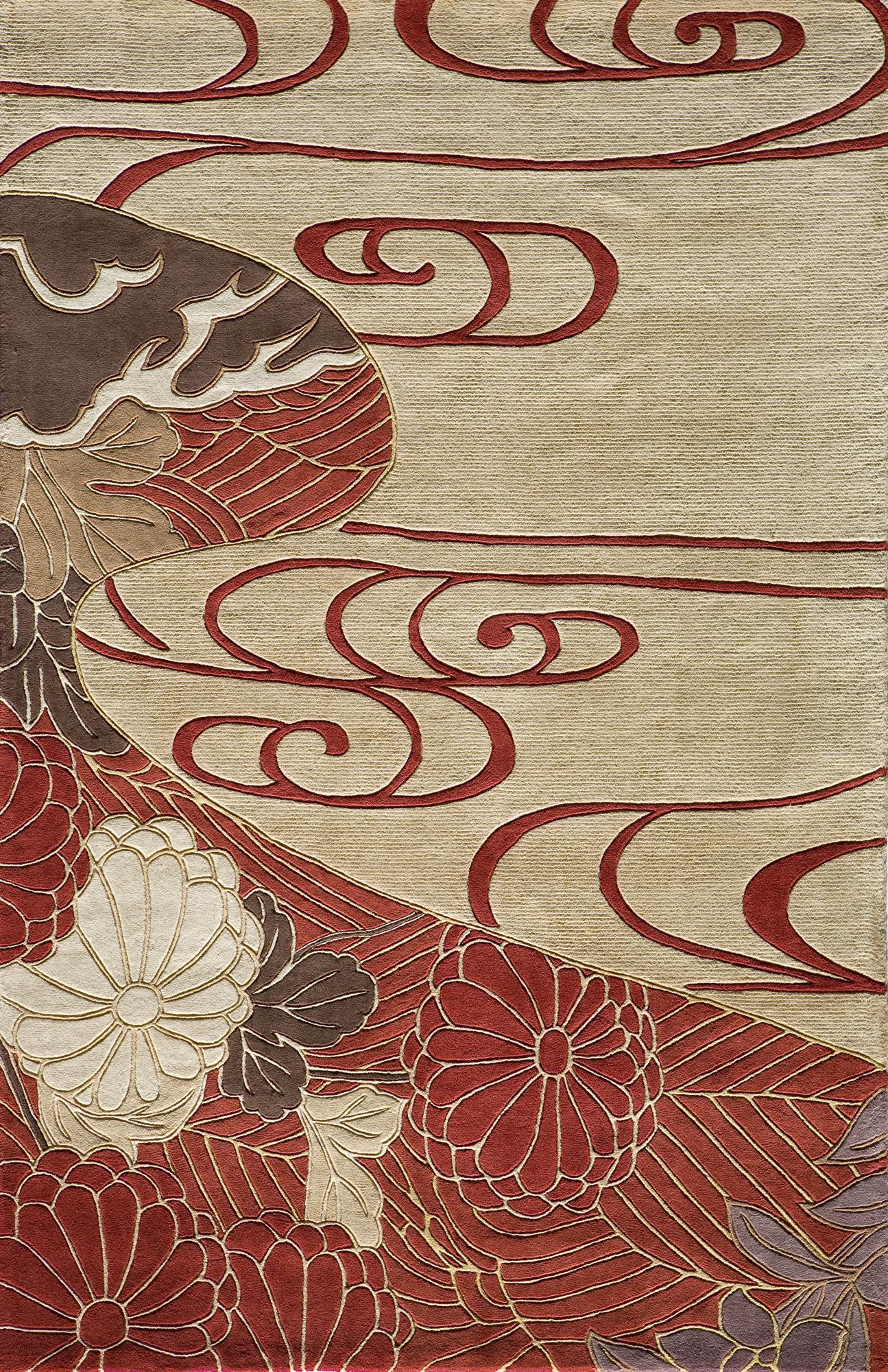 Momeni Koi KO-15 Red Area Rug main image