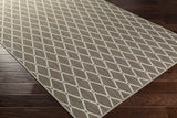 Surya Lambert LAB-2003 Dark Brown/Light Gray Area Rug 5x8 Corner