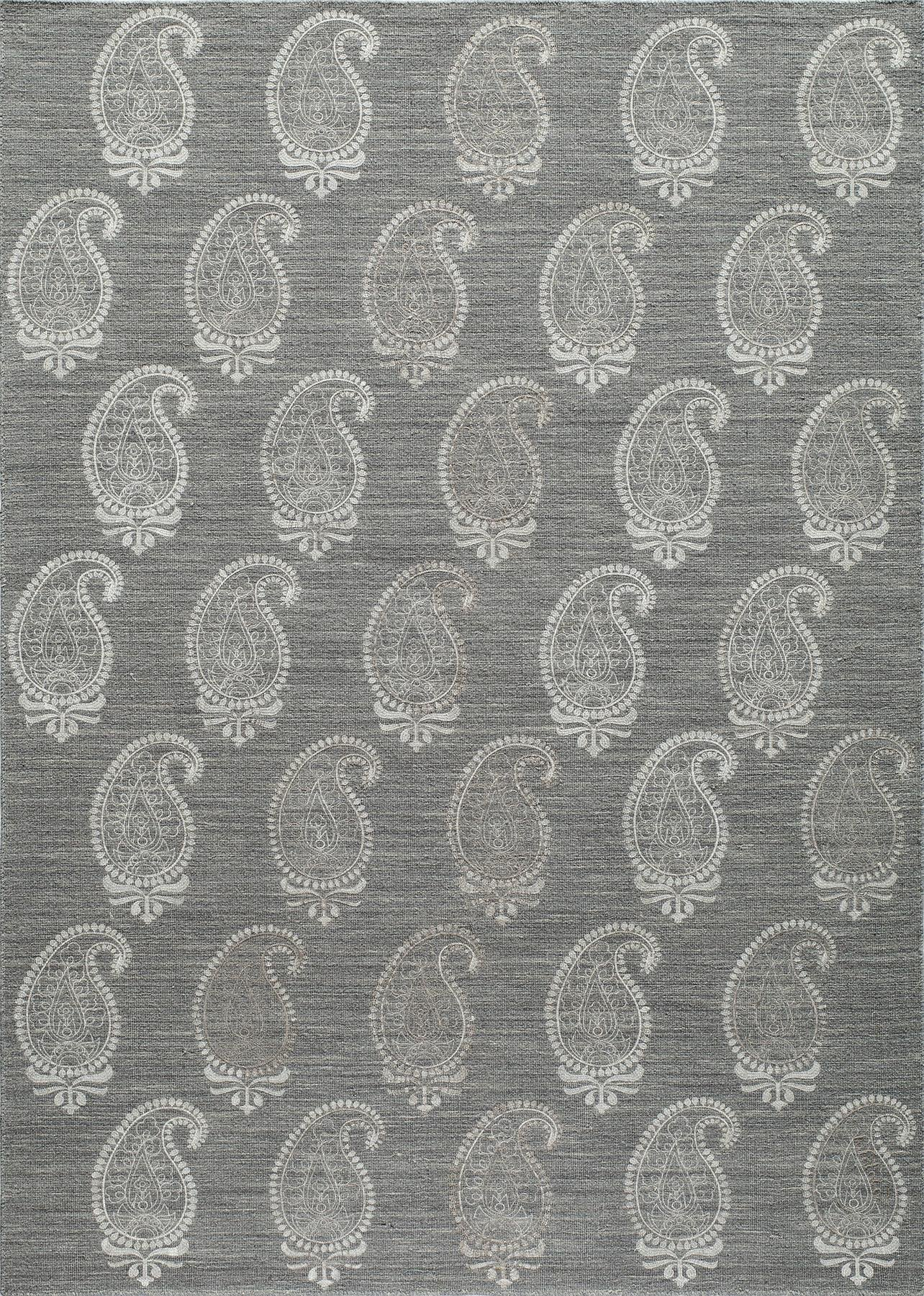 Momeni Lace Embroided LAC-1 Grey Area Rug main image
