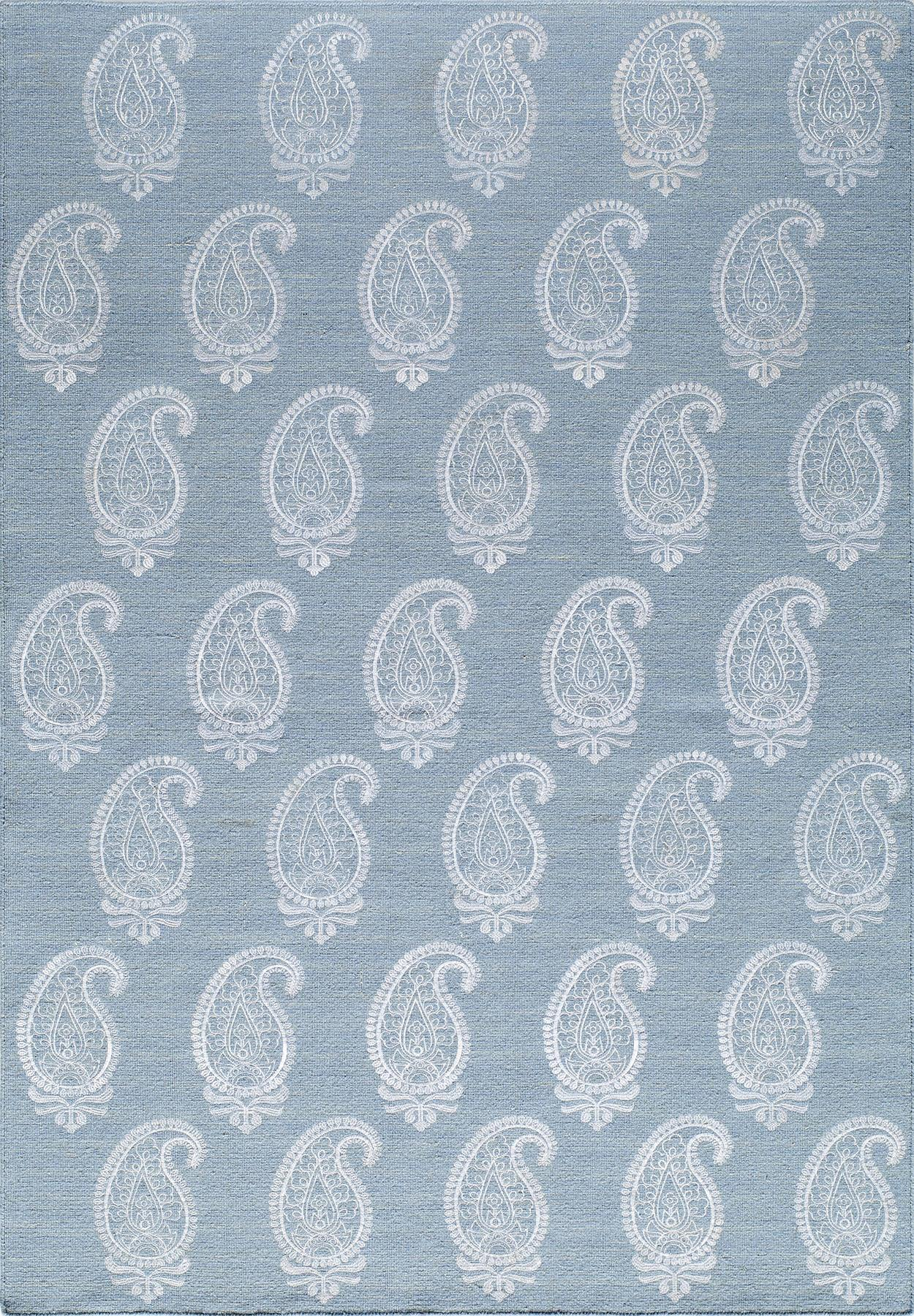 Momeni Lace Embroided LAC-1 Soft Blue Area Rug main image