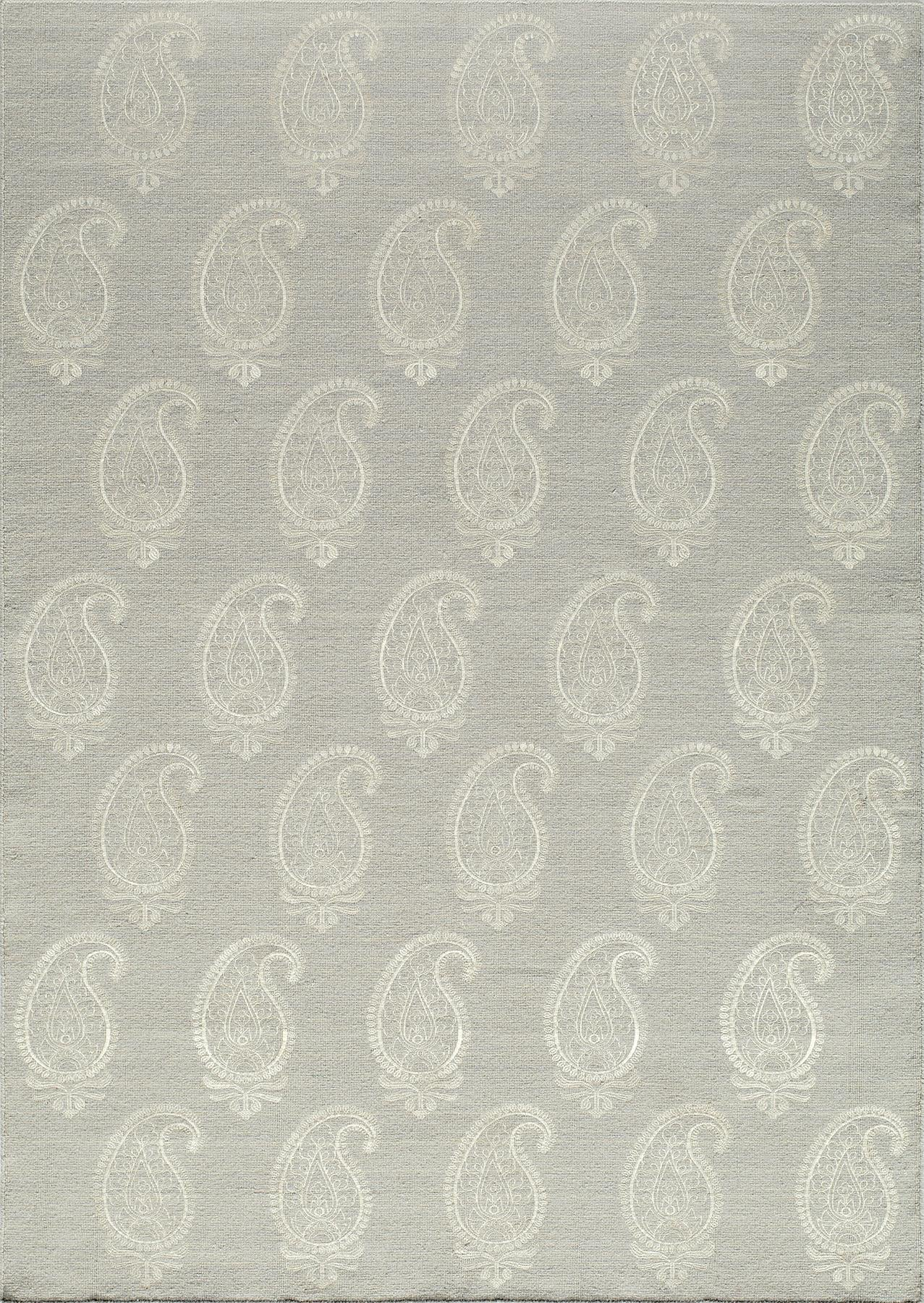 Momeni Lace Embroided LAC-1 Silver Area Rug main image