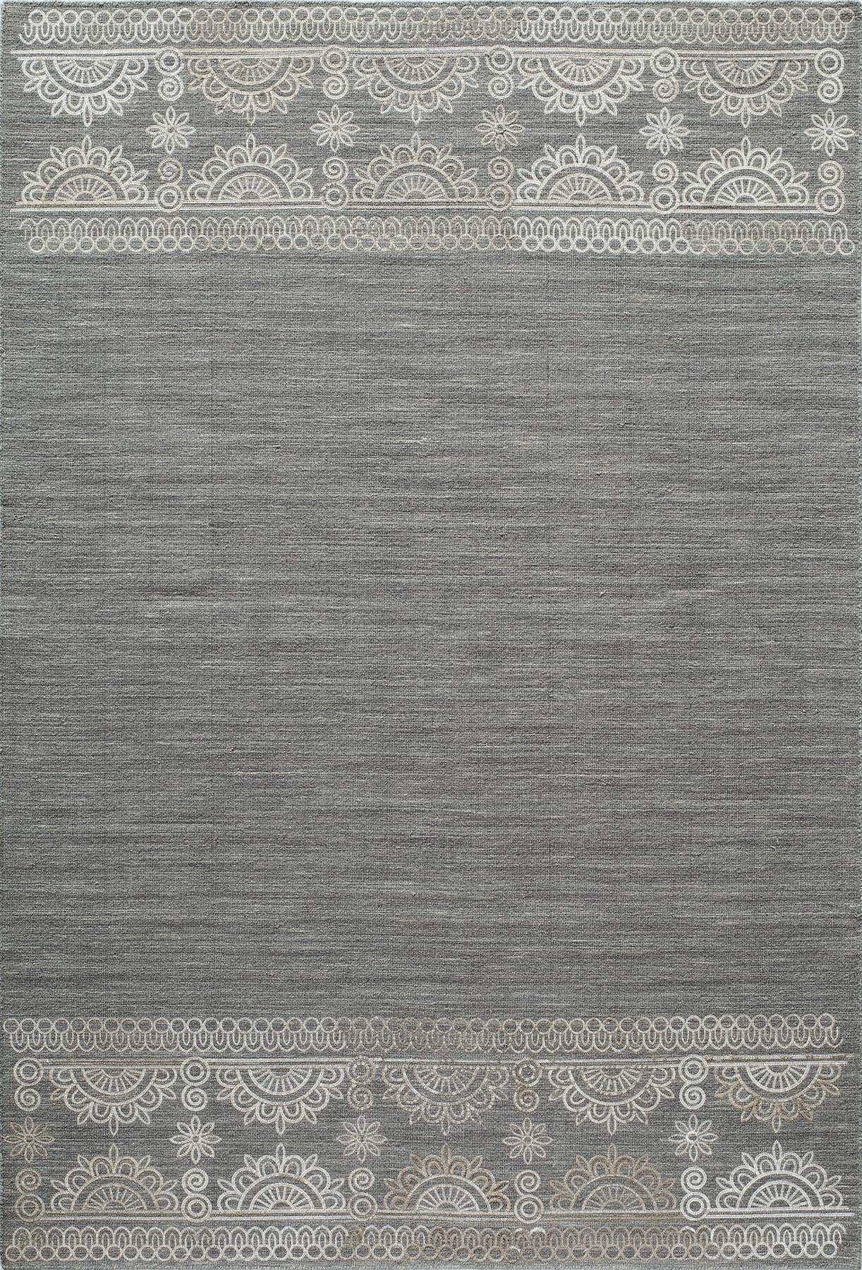 Momeni Lace Embroided LAC-2 Grey Area Rug main image