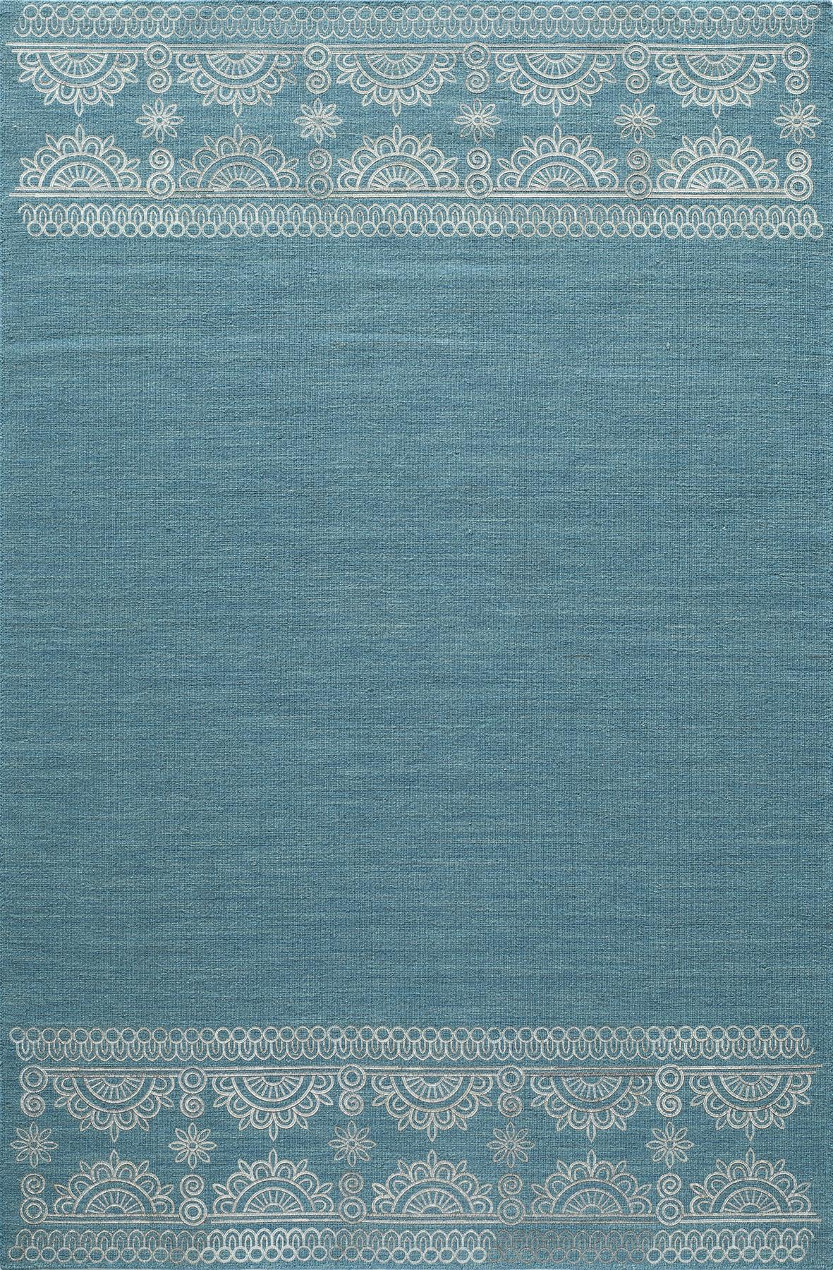 Momeni Lace Embroided LAC-2 Teal Area Rug main image