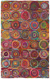 LR Resources Layla 03401 Multi Hand Hooked Area Rug 7'9'' X 9'9''