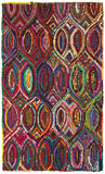 LR Resources Layla 03403 Multi Hand Hooked Area Rug 5' X 7'9''