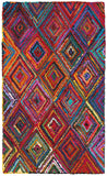 LR Resources Layla 03404 Multi Hand Hooked Area Rug 5' X 7'9''