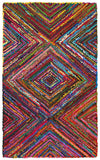 LR Resources Layla 03405 Multi Hand Hooked Area Rug 7'9'' X 9'9''