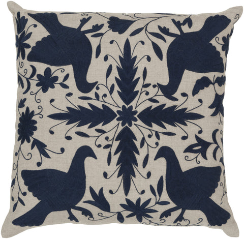 Surya Otomi Delicate Doves LD-020 Pillow by Beth Lacefield