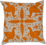 Surya Otomi Delicate Doves LD-023 Pillow by Beth Lacefield 22 X 22 X 5 Poly filled