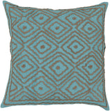 Surya Atlas Multi-Dimensional Diamond LD-033 Pillow by Beth Lacefield 18 X 18 X 4 Poly filled