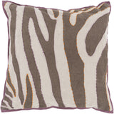 Surya Zebra Color Me Wild LD-039 Pillow by Beth Lacefield 22 X 22 X 5 Poly filled