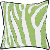 Surya Zebra Color Me Wild LD-040 Pillow by Beth Lacefield 22 X 22 X 5 Down filled