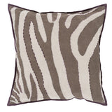 Surya Zebra Color Me Wild LD-041 Pillow by Beth Lacefield 20 X 20 X 5 Down filled