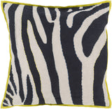 Surya Zebra Color Me Wild LD-042 Pillow by Beth Lacefield 22 X 22 X 5 Down filled