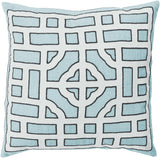 Surya Chinese Gate Looking Glass LD-047 Pillow by Beth Lacefield