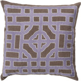 Surya Chinese Gate Looking Glass LD-048 Pillow by Beth Lacefield 22 X 22 X 5 Poly filled