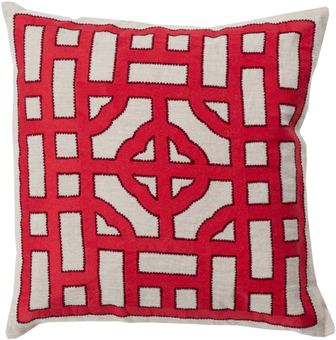 Surya Chinese Gate Looking Glass LD-049 Pillow by Beth Lacefield