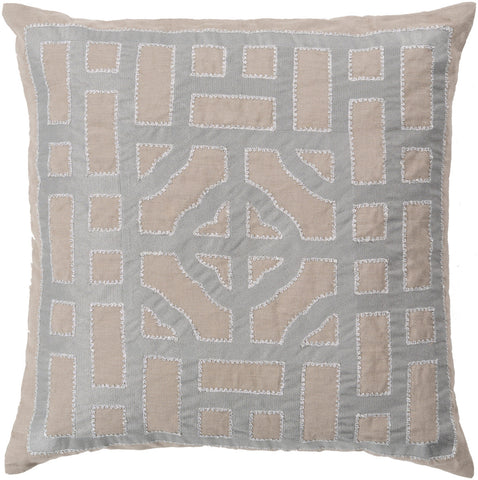 Surya Chinese Gate Looking Glass LD-050 Pillow by Beth Lacefield