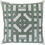 Surya Chinese Gate Looking Glass LD-052 Pillow by Beth Lacefield 18 X 18 X 4 Poly filled
