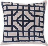 Surya Chinese Gate Looking Glass LD-054 Pillow by Beth Lacefield