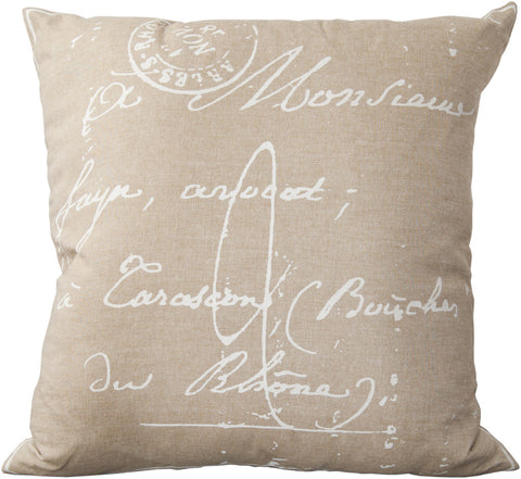 Surya Montpellier Classical French Script LG-511 Pillow