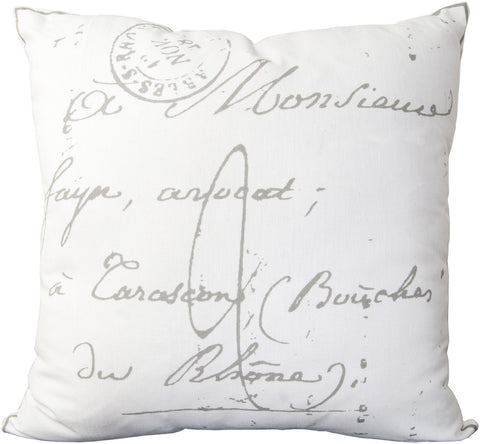 Surya Montpellier Classical French Script LG-512 Pillow