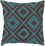 Surya Tribe Diamond Trimming LG-551 Pillow 18 X 18 X 4 Poly filled