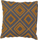 Surya Tribe Diamond Trimming LG-558 Pillow 18 X 18 X 4 Poly filled