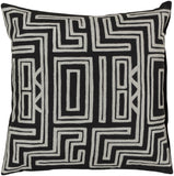 Surya Kuba Mesmerizing Maze LG-560 Pillow 18 X 18 X 4 Poly filled