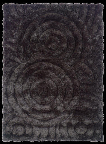 Linon Links Collection RUG-LK01 Charcoal Area Rug main image