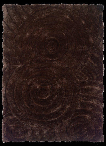 Linon Links Collection RUG-LK02 Chocolate Area Rug main image