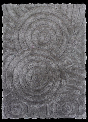 Linon Links Collection RUG-LK03 Grey Area Rug main image