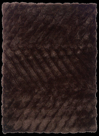 Linon Links Collection RUG-LK05 Chocolate Area Rug main image