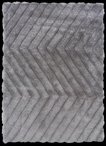 Linon Links Collection RUG-LK06 Grey Area Rug main image