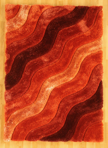 Linon Links Collection RUG-LK12 Orange Area Rug main image