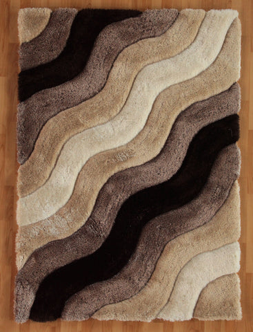 Linon Links Collection RUG-LK13 Brown Area Rug main image